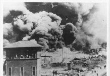 Tulsa fires burn during race massacre of May-June 1921