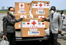 COVID-19 vaccines provided by China arrive in Equatorial Guinea, Feb. 10 2021. (Photo/Chinese Embassy in Equatorial Guinea)