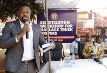 sensitization workshop for Haulage Truck Drivers in Tema
