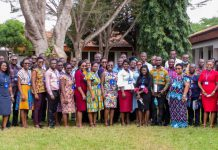 Participants at the just ended two-week training course for PhD students in West Africa