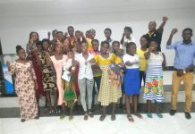 The adolescents at a workshop in Wa