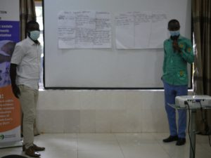 Participants presenting group exercise