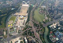 Aerial photo shows Nanning International Convention and Exhibition Center in south China's Guangxi Zhuang Autonomous Region. (Xinhua/Zhou Hua)