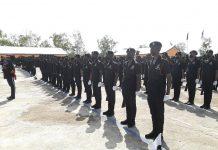Police Recruits at parade