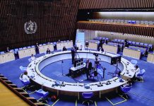 Photo taken on May 24, 2021, shows the live stream of the 74th World Health Assembly (WHA) held at the headquarters of the World Health Organization in Geneva, Switzerland. (Photo/Xinhua)