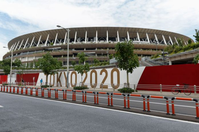A general view of the National Stadium, the venue for the opening ceremony and competitions for the Tokyo 2020 Olympic and Paralympic Games, which will be held from 23 July to 8 August, 2021. Photo: Rodrigo Reyes Marin/ZUMA Wire/dpa
