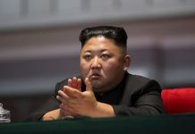 """FILED - North Korean leader Kim Jong-un attends the performance titled """"The Glorious Country"""", on the sidelines of the Inter-Korean Summit, at the May Day Stadium in Pyongyang, North Korea, 19 September 2018. Photo: -/Zuma Press/dpa"""