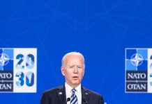 June 14, 2021, Brussels, Brussels, Belgium: U.S. President Joe Biden gives a press conference after the NATO summit in Brussels on June 14, 2021 (Credit Image: © Nicolas Landemard/Le Pictorium Agency via ZUMA Press Photo: Nicolas Landemard/Le Pictorium Agency via ZUMA/dpa