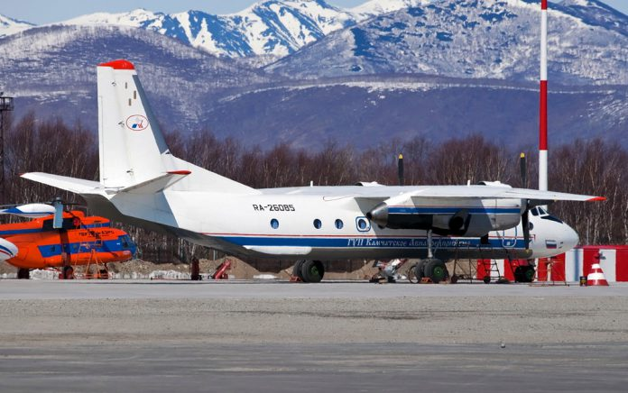 An undated pic of a Russian An-26 plane in Petropavlovsk-Kamchatsky [File: Russia's Emergencies Ministry/Handout via Reuters]