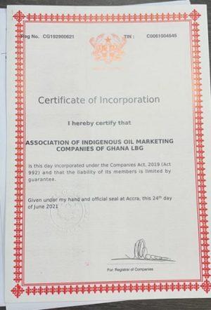 Association of Indigenous Oil Marketing Companies of Ghana (AIOMCG)
