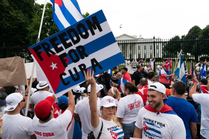 The move marks the first concrete steps by President Joe Biden's administration to apply pressure on the Cuban government as the United States faces calls from US lawmakers and the Cuban-American community to show greater support for the protesters. [Jose Luis Magana/AP Photo]