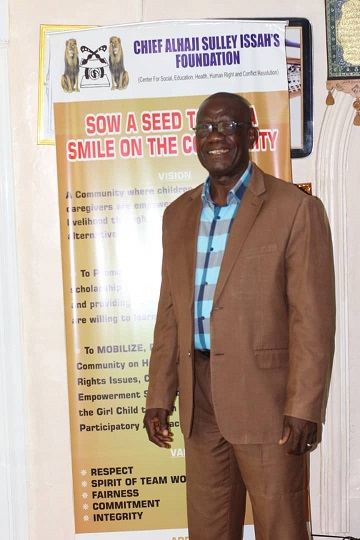 Founder Of The Foundation Chief Alhaji Sulley Issah