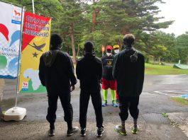 Black Bombers hold first training in Inawashiro