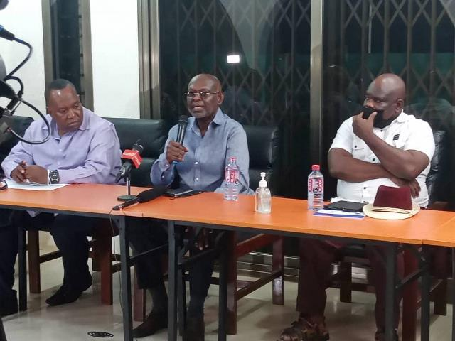 Prof Kwesi Botchway (middle) speaking at the event
