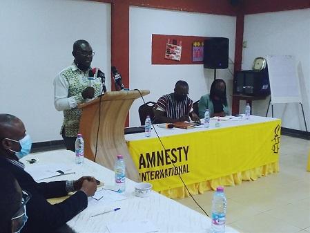 The Director Of Amnesty International Ghana Mr Frank Kwaku Doyi