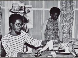 Walter Rodney at his desk