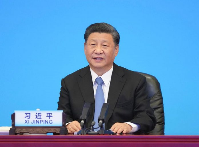 Xi Jinping, general secretary of the CPC Central Committee and Chinese president, attends the CPC and World Political Parties Summit and delivers a keynote speech in Beijing, July 6, 2021. (Xinhua/Li Xueren)