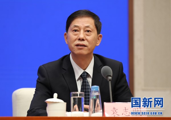 Photo shows Yuan Zhiming, professor with the Wuhan Institute of Virology (WIV) under the Chinese Academy of Sciences as well as director of the National Biosafety Laboratory (NBL) at the WIV answering questions of journalists at a press conference held by the State Council Information Office of China on July 22. (Photo by Xu Xiang/Website of the State Council Information Office of China)
