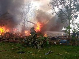The C-130 aircraft crashed after missing the runway.