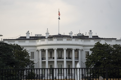 Photo taken on May 4, 2021 shows the White House in Washington, D.C., the United States. U.S. President Joe Biden said Tuesday that he expects to hold a meeting with Russian President Vladimir Putin during his trip to Europe in June. (Xinhua/Liu Jie)