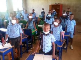 Some pupils of the school