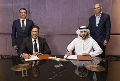 Amadeus Maher Koubaa Airlines Evp Emea And Decius Valmorbida Travel President Etihad Mohammad Al Bulooki Coo And Frank Meyer Cdo Sign Deal Lr