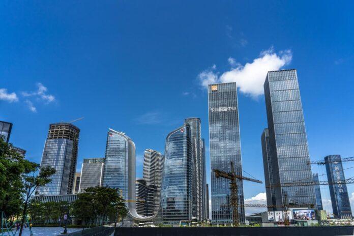 Skyscrapers in China (Guangdong) Pilot Free Trade Zone Qianhai & Shekou Area in Shenzhen, south China's Guangdong province, June 1, 2020. (Photo by Wang Meiyan/People's Daily Online)