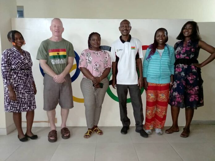 Andrew Carruthers visits Ghana Olympic Committee