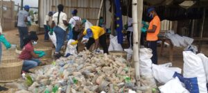 European Union, Plastic Punch cleaning Laboma Beach in Accra