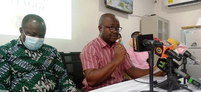 Nana Poku – Tagg General Secretary Speaking Tagg President Left