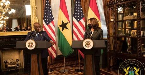 Us Vice President Kamala Harris With President Nana Akufo Addo