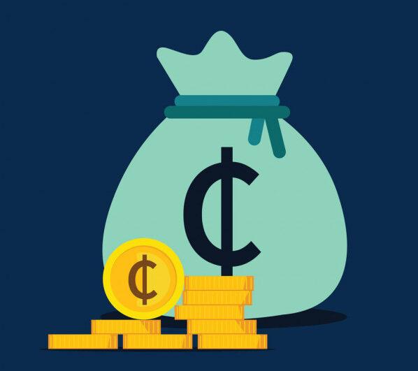 Depositphotos Stock Illustration Ghana Cedi Money Bag Icon