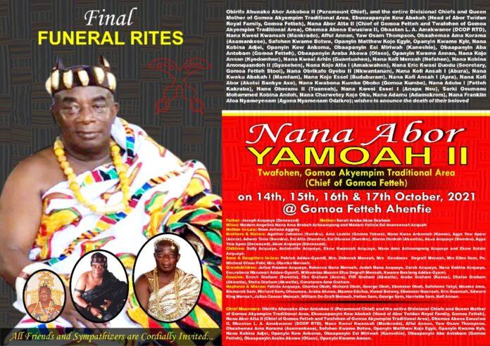late Chief of Gomoa Fetteh, Nana Abor Yamoah II
