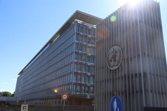 Photo taken on May 20, 2021 shows the World Health Organization (WHO) headquarters in Geneva, Switzerland. (Xinhua/Chen Junxia)